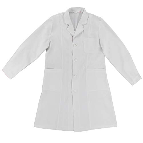 MISEMIYA - Bata Laboratorios Unisex Uniforme Laboral CLINICA Hospital Limpieza Ref:901 - M, Blanco