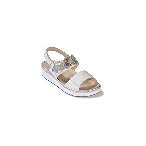 Melluso 019125 - Donna - Walkmocassino, Pc.ShipperSP Latte, 41
