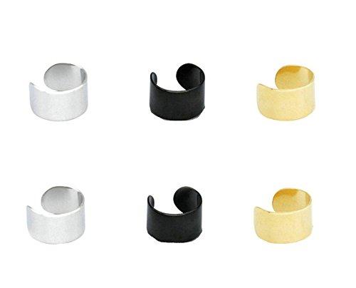 Beydodo 3/5 Pares Ear Cuff Acero Inoxidable Pendientes Tragus del Cartílago Pendientes de Mujer Hombre Pendientes Clip On