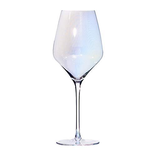 Inicio Copa De Vino De Color Degradado Copa De Vino Tinto De Color Arcoíris Estilo Lindo, Esencial para Banquetes Y Fiestas, 650 Ml (Color : Clear, Size : 8 * 26cm)
