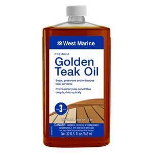 West Marine Premium Golden Teak Oil, Quart