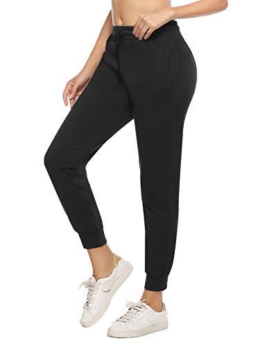 iClosam Pantalon Algodon Mujer CláSico Casual EláSticos Pantalones Pijamas Mujer Invierno Yoga Fitness Sweatpants