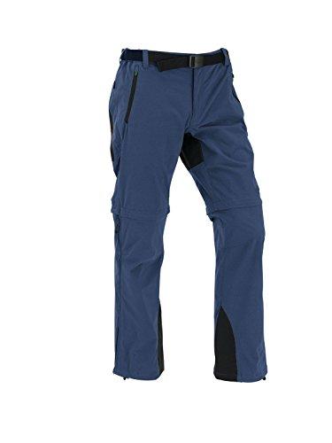 Maul Eiger-Elastic T-Zipp Off Pantalon long pour homme, Noir/bleu marine, 27