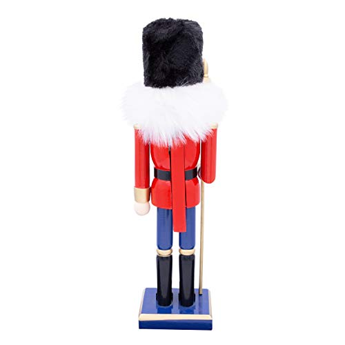 The-Christmas-Workshop-50cm-Tall-Wooden-Soldier-Nutcracker-on-Stand