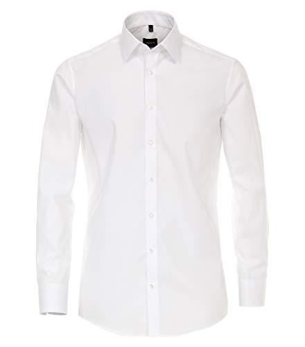 Venti Herren Businesshemd Slim Fit 001480/0, Gr. 40, Weiß (0 weiß)