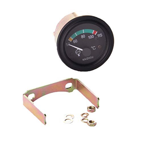 Digital Voltmeter Motortemperaturanzeige Wassertemperaturanzeige Temperaturanzeige, Material: Legierung und Kunststoff - Schwarz, DC24V