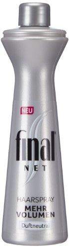 Final Net Haarspray Nachfüllflasche mehr Volumen Duftneutral, 3er Pack (3 x 125 ml)