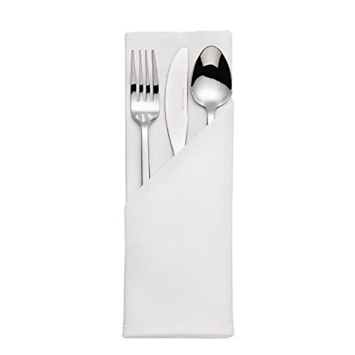 EVERBUY - Servilletas de algodón Egipcio (55 x 55 cm, 6 Unidades), Color Blanco