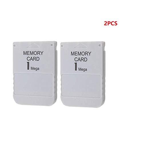 WiCareYo 2 Stück 1 MB Speicherkarte Memory Card für Playstation One PS1 PS2 PSX Konsole 1 Mega Speicherkarte