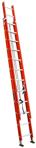 Louisville Ladder FE3224 Fiberglass Extension Ladder 300-Pound Capacity, 24-Feet