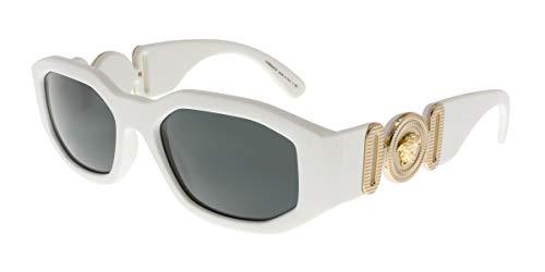 Versace Unisex-Erwachsene 0VE4361 Sonnenbrille, Weiß (White), 53