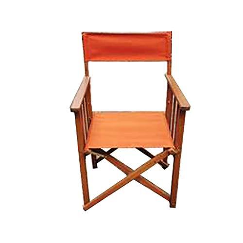 DCCYZ-YJ New Super High Director Chair Folding Tragbare Massivholz Liegestuhl Bar Rückenlehne Büro Freizeit Angeln Strand Stuhl abnehmbar und waschbar Stuhl-Abdeckung H92cm