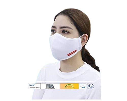 JaTop Mund-und Nasen-Maske waschbar 60 Grad aus Baumwolle dreilagig Silber-Nano-Technologie