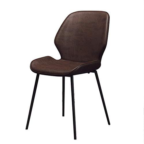 Sessel FHW Moderne Esszimmerstühle for Küche Faux-Leder zurück und Kissen, Mid Century Modern Beistellstühle mit Sturdy Zurück Metallbeine for Heim Wohnzimmer, Grün