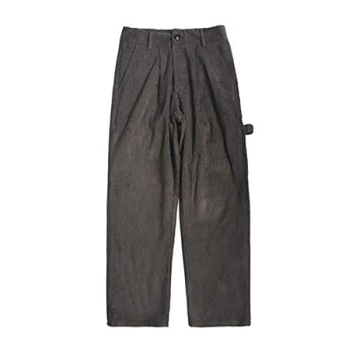 Pantalones Casuales de otoño para Hombre Pantalones de harén Rectos de Pierna Ancha Holgados con Cintura elástica Pantalones Casuales cómodos para Uso Diario al Aire Libre XL