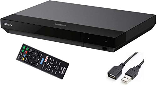 Sony Streaming 4K Ultra HD Blu-ray Player Hi-Res Audio Dolby Atmos Wi-Fi Built-in Dolby Vision BRAVIA Theater Sync Miracast Technology Smart Capable HDR 10 + iCarp USB Extension