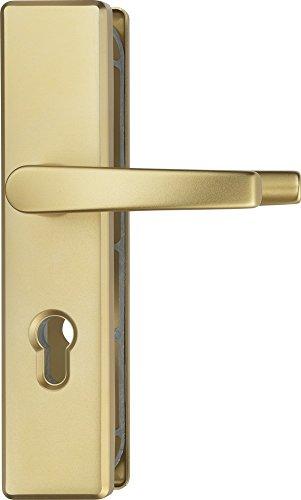 ABUS Tür-Schutzbeschlag KLS114 F3 messing mit beidseitigem Drücker 08297