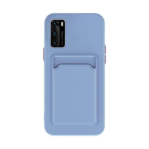 Oihxse con Tarjetas Protectora Funda Compatible con iPhone 6Plus/6S Plus 5.5', Almacenamiento de Tarjetas de Crédito Case, Suave Silicona Anti-rasguños Antigolpes Cáscara