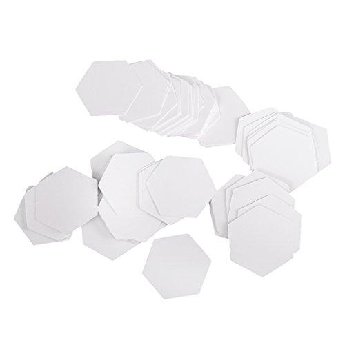 yotijar Juego de 100 Plantillas Hexagonales de Papel para Acolchar en Inglés - 22mm