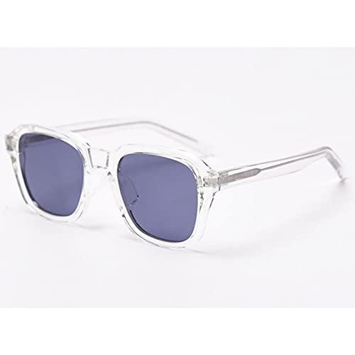 Tanxianlu Gafas de Sol con Montura Cuadrada Tr90 para Hombre, Gafas de Sol polarizadas de Acetato para Conducir, Gafas de Sol para Mujer, Uv400, Verde, marrón, Verano,D