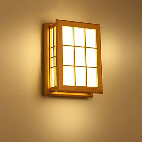 Lámparas de pared Simple madera maciza de estilo japonés. DIRIGIÓ Lámpara de pared Tatami Lámpara Habitación Habitación Lámpara de noche Lámpara de techo pequeña Lámparas nórdicas Blanco CLORURO DE PO