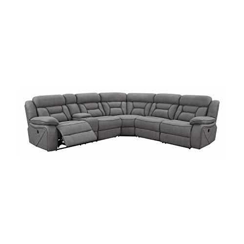 Coaster Home Furnishings Higgins 4-piece Upholstered Power Grey Sectional