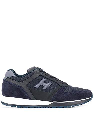 Moda Hogan Hombre Hxm3210Y851N8L647F Azul Tela Zapatillas | Temporada Permanente