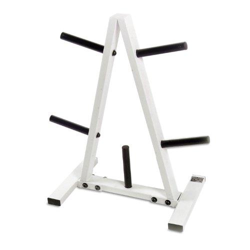 CAP Barbell Standard Plate Rack, Black and White, 1'