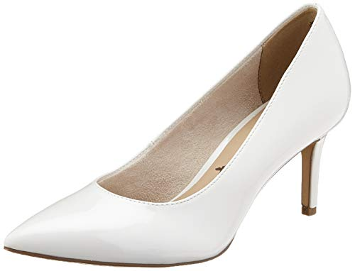 Tamaris Damen 1-1-22421-24 Pumps, Weiß (White Patent 123), 39 EU