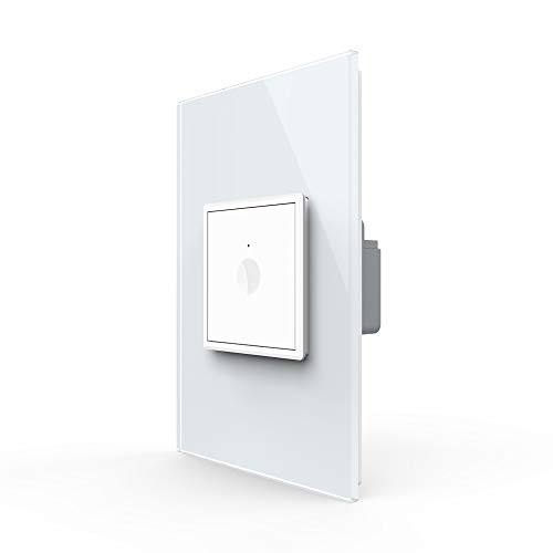 LIVOLO Smart Wall Switch(No Neutral),APP Control Touch Switch,Zigbee Light Switch with Timing Function,Requires LIVOLO HUB,Compatible with Alexa,Google Assistan,1 Gang 1 Way