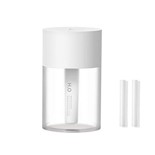 Sichy Schnurloser tragbarer Mini-Luftbefeuchter, batteriebetriebene 800-mAh-Luftbefeuchter für das Baby-Baby-Reisebüro, 16 dB Whisper Quiet, bis zu 8 Stunden, automatische Abschaltung, Nachtlicht