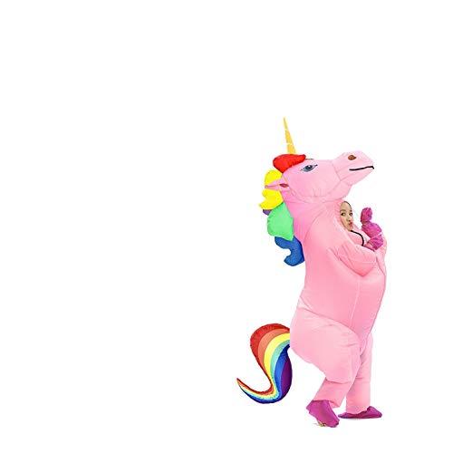 SMchwbc Cosplay Unisex Erwachsene Kinder Aufblasbare Einhorn Kostüm Karneval Halloween Kostüme Tier Cosplay Kleidung Fancy Kleidanzüge Aufblasbare Kleidung (Color : Rainbow Small, Size : One Size)