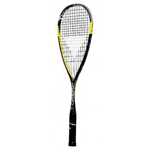 Tecnifibre 248160 Carboflex125 Basaltex - Raqueta de Squash, Color Negro y Amarillo