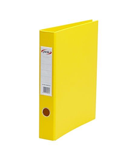 Pardo 247508 - Archivador plástico, anilla 2/40, tamaño folio, color amarillo