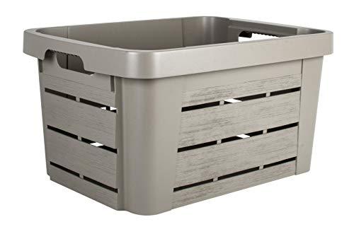 EDA Caisse DE Rangement WOOD'BOX 30 litres Couleur Taupe