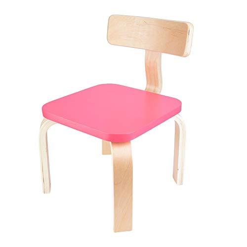 XQAQX Sedia per Bambini, sedie in Legno, Soggiorno per la casa, Piccola Sedia in Legno curvato di Betulla per Bambini(Rosso)
