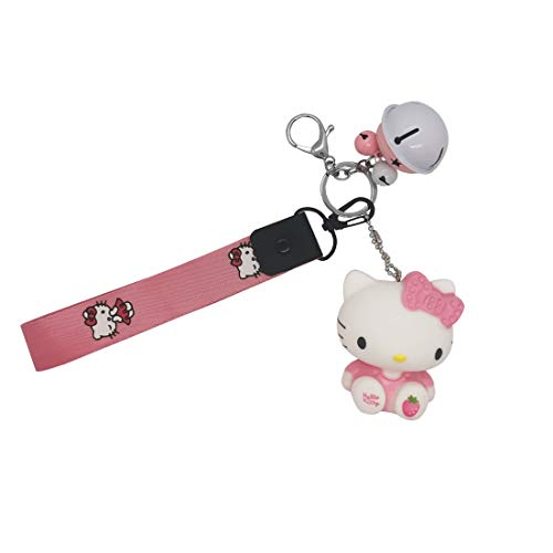 sailorsunny Hello Kitty Cute Key Chains Women Cute Car Key Chain For Women Cartoon Key Accessories Pink Purse Charms For Handbags Charms Anime Cat Keychains Braided Rope Womens Keychain Cartoon Key Ring, Medium