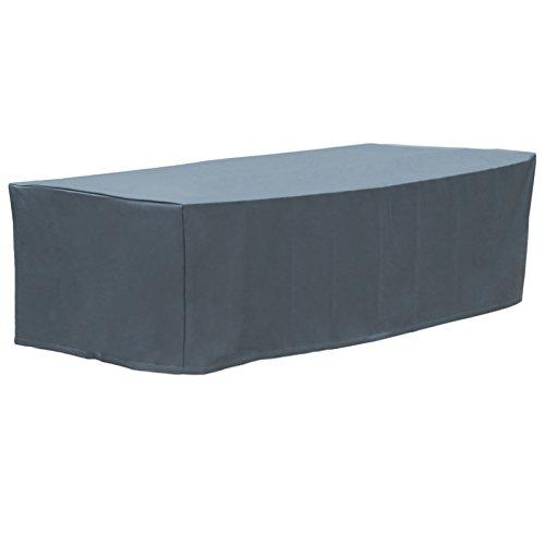 WOLTU GZ1196an Housse de Protection pour Meuble de Jardin 600D Oxford imperméable 213x132x74cm,Anthracite