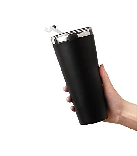 Tazza per Acqua Leggera In Acciaio Inossidabile 304 Tazza per Uso Domestico In Paglia Di Grande Capacità per Ufficio Tazza Da Caffè con Coperchio Tazza Termica Da Viaggi