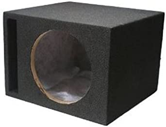 Scosche SEV10CC 10-Inch Slot Ported Single Subwoofer Enclosure Grey//Black