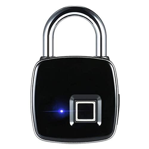 JHTD Candado de contraseña de Huellas Digitales electrónicos, Bloqueo de Huellas Digitales Ultra Ligero con Carga USB, para casillero, Bolsos
