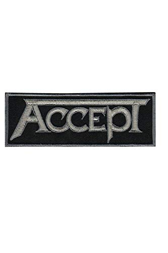 Accept Heavy Metal parche patch bordado con logotipo para planchar de hierro...