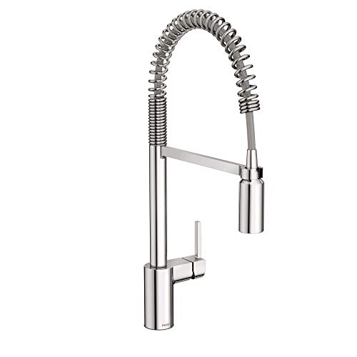Moen 5923 Align One Handle Pre-Rinse Spring Pulldown Kitchen Faucet...