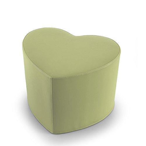 EXTOITALY Coeur Lime Pouf en Cuir synthétique Adapté à séance mis.50 x 41 h.41 cm. Déhoussable Disponible en 10 Couleurs intérieur en polyuréthaneNome articolo (Titolo)