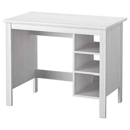 BestOnlineDeals01 BRUSALI Escritorio blanco 90x52 cm duradero y fácil de cuidar. Escritorios para el hogar, escritorios para ordenador, mesas y escritorios, muebles respetuosos con el medio ambiente