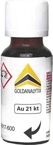 Prüfsäure Gold (21 Karat, 900-20 ml) - Probiersäure, Gold-Test, Gold-Tester