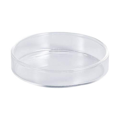 popetpop comida para Gambas redondas (cristal claro tarteras redondas para pequeños peces Fournitures ornementales para cuencos para comida para peces