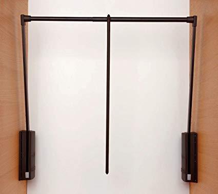 SERVETTO saliscendi per vani armadio da 60-100 cm, colore marrone