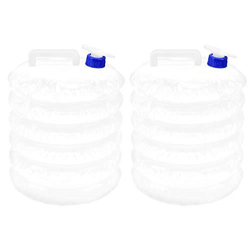 TAKE FANS Bolsa de Agua plegable-2PCS 15L al Aire Libre Conveniente Bolsa de Agua Plegable de PE Que acampa, Caza, Coche, Cubo Plegable