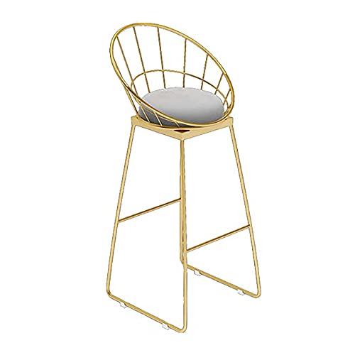 Bias&Belief Barhocker Modern Nordic ins Iron Bar Chairs PU Leder Thekenhocker Island Stühle hohe Barhocker mit Back Dining Chairs,Grau
